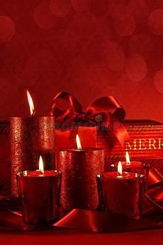 candele rosse candele rosse di natale immagine stock immagine di sfere