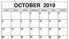 October Calendar October 2019 Calendar Printable Templates