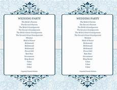 Wedding Programme Template 37 Printable Wedding Program Examples Amp Templates ᐅ