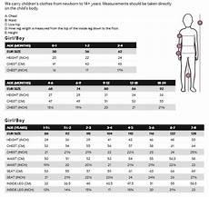H Size Chart Bumpy Shop H Amp M Kids Size Guide