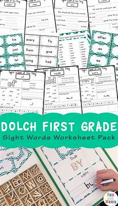 1st Grade Sight Words Dolch Dolch First Grade Sight Words Worksheets Fun With Mama