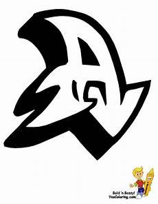 big graffiti alphabet free learning letters