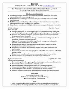 Retail Sales Manager Resume Samples Retail Manager Sample Resume