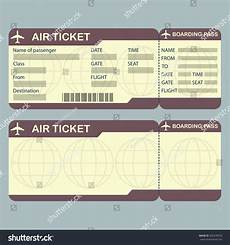 Blank Airline Ticket Template Airline Boarding Pass Ticket Template Detailed Stock