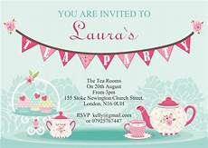 Tea Party Photo Invitations 10 X Personalised Afternoon Tea Party Invitations Or Thank