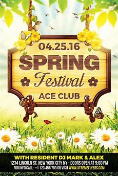 Spring Event Flyer Template Spring Festival Flyer Template Xtremeflyers