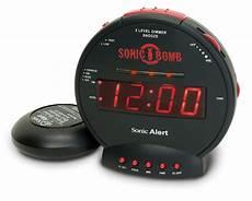 sonic bomb alarm clock and bed shaker alarm clocks