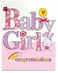 Congratulation Baby Cards Large New Baby Girl Congratulations Greeting Card Cards