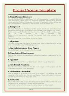 Project Scope Template Word 9 Project Scope Templates Word Excel Amp Pdf Templates