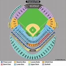 Rays Seating Chart Tropicana Field Ballpark Seating Charts Ballparks Of Baseball