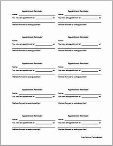 Appointment Cards Template Patient Appointment Cards Template Printable Medical