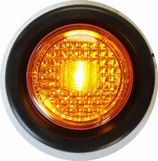 Amber Marker Lights Pair Truck Trailer 2 Quot Amber Round Side Marker New Led