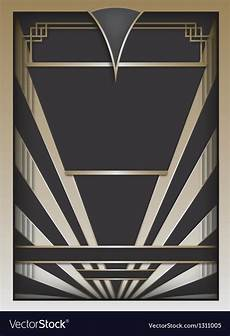 Art Deco Vector Art Deco Background And Frame Royalty Free Vector Image