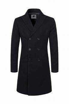 big mans breasted coats black solid breasted wool blend coats mens