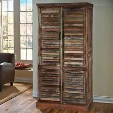 buckley 5 shelf shutter door solid reclaimed wood