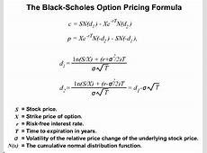 Black Scholes Pricing Model (Harga Put, Call option