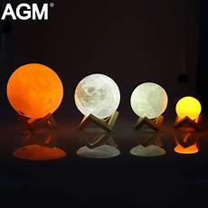 The Luna Light Rechargeable Led Night Light Moon Lamp 3d Print Moonlight