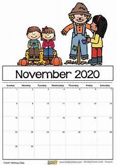November 2020 Calendar Printable Free Free Printable 2020 Calendar For Kids Including An