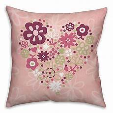 flower square throw pillow in pink bed bath beyond