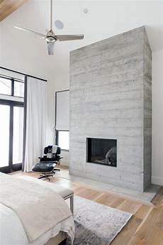 Back To Back Fireplace Design Top 60 Best Concrete Fireplace Designs Minimalistic
