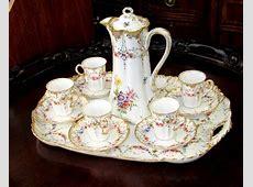 Antique French Haviland Limoges Porcelain Chocolate Set