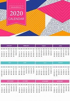 Free Printable Yearly Calendars 2020 2020 Yearly Calendar Printable Calendar 2020
