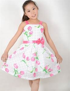 clothes size 5 fashion dress pink flower dot princess