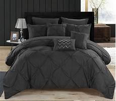 luxury comforter set black bed in a bag 10