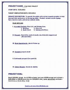 Sample Project Outline Give Your Ideas Life Solutions To Help You Organize And