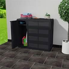 outdoor storage lockable cabinet plastic horizontal garden