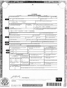 Birth Certificate Example Birth Certificate Familypedia