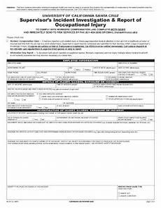 Supervisor Incident Report Fillable Online Risk Ucsc Supervisor S Incident