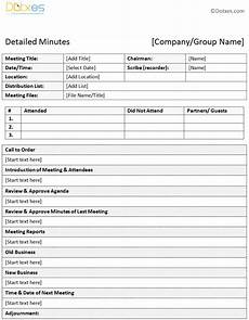 Minutes Templates Sample Of Minutes Of Meeting Descriptive Format Dotxes