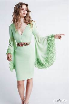 big sleeve dresses for green dress with big sleeves m 225 ss matilde cano