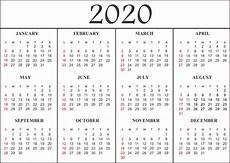 Calendar Template 2020 Free Blank Printable Calendar 2020 Template In Pdf Excel