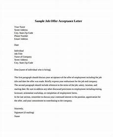 Job Offer Acceptance Email Example Job Offer Acceptance Letter 8 Free Pdf Documents
