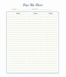 Free Template For Sign Up Sheet 58 Sign Up Sheets Free Amp Premium Templates