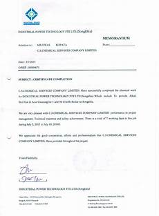 Sample Of Certificate Of Acceptance C S Chemical Services Company Limited