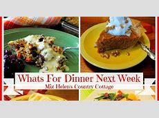 Whats For Dinner Next Week 12 10 17