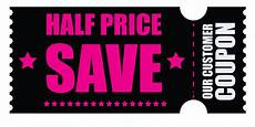 Coupon Images Black Friday Half Price Coupon Png Clipart Image Gallery