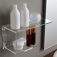 scaffale per bagno scaffale 37 cm in plexiglass trasparente per bagno design