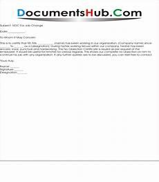 Noc Certificate Format Noc Letter Format For Employee Documentshub Com