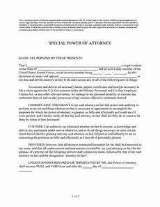 Special Power Of Attorney Sample Special Power Of Attorney Form Free Download Create