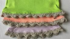 how to crochet on fabric with crochet edging