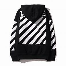 Black And White Designer Hoodie 2016 Off White Mens Pullover Stripe Offset Print Hoodies