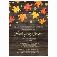 Thanksgiving Party Invitations Thanksgiving Invitations Falling Leaves With Gold Autumn