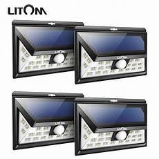 Litom Outdoor Solar Lights 4 Pack Litom 24 Led Solar Light Outdoor Wireless Motion