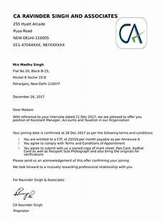 Appointment Letter For Job Format Offer Letters Amp Appointment Letter Job And Business