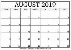 Printable Calendar August Blank August 2019 Calendar Printable Beta Calendars