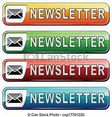 Newsletter Clipart Free Vector Illustration Of Newsletter Buttons Vector